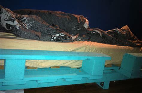 Pallet bed   single bed made from pallets   Pallet Furniture : Pallet Furniture