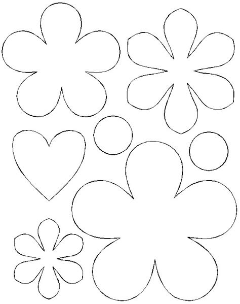 flowers template printable paper hearts and flowers bouquet