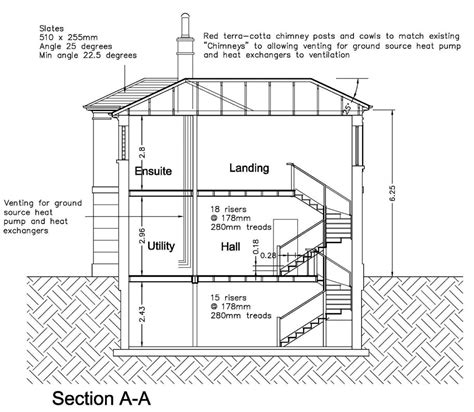 section a housing journeyman draughting design charles board cad