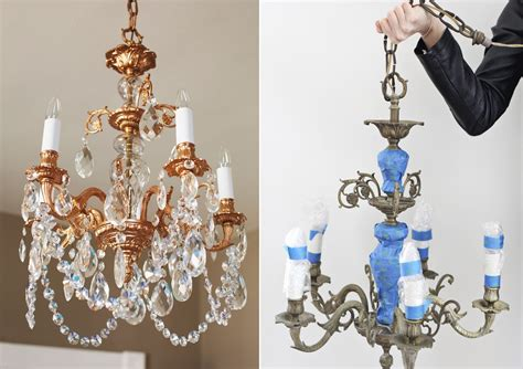 Painting Of Chandelier With Copper Spray Paint 11 Diy Ideas
