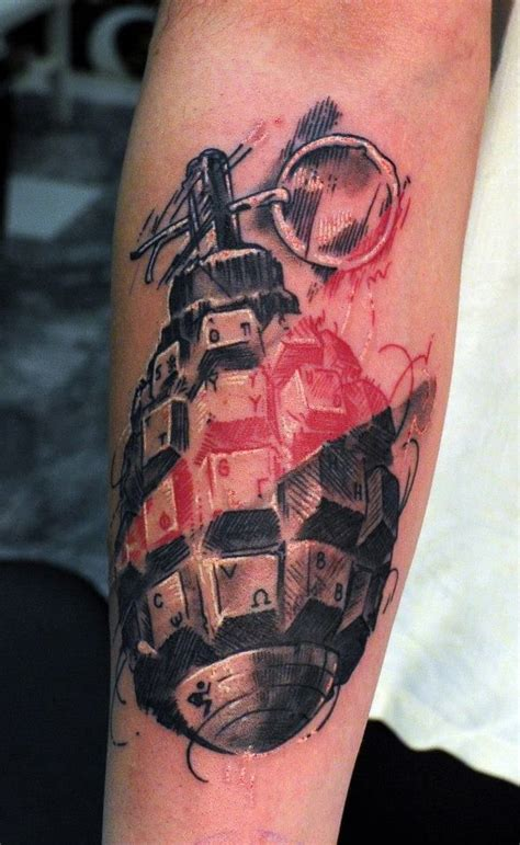 grenade tattoos best 25 trash polka ideas on trash