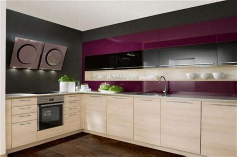 Purple Kitchen Design by Beauty Houses Purple Modern Interior Designs Kitchen