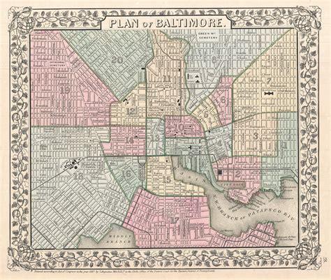 baltimore city map map of baltimore city neighborhoods