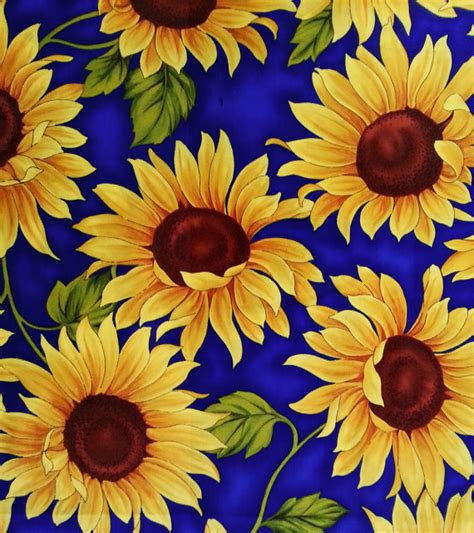 Sun Flowers Flanel harvest sunflower fabric quarter by timeless by apronbabe