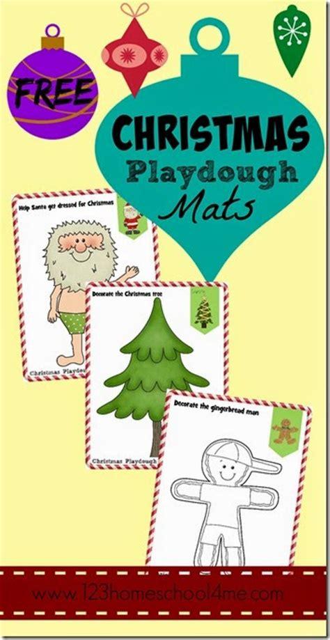 free printable christmas playdough mats christmas playdough mats
