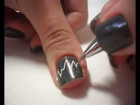 nail art zipper tutorial nail art tutorial heartbeat youtube