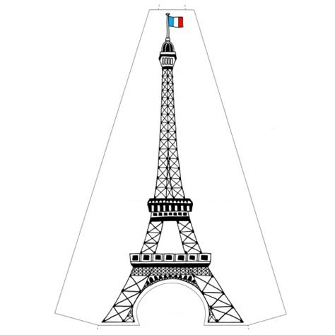 Template Eiffel Tower Cake Template