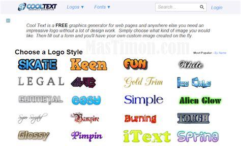 membuat logo tulisan online buat logo dan tulisan online dengan cooltext yang cantik