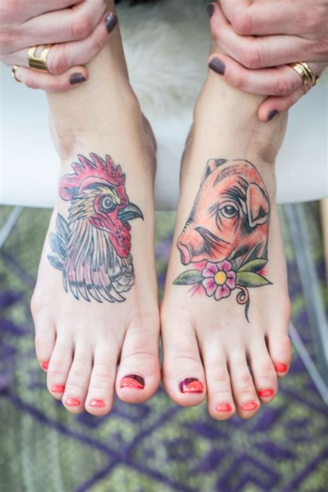 chicken foot tattoo edgy nail tutorial nail pedicures and chicken