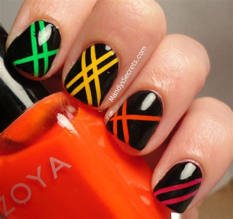 Do It Yourself Nail Designs With Scotch