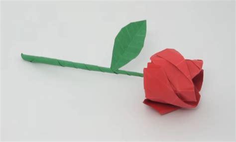 cara membuat origami bunga ros mudah cara membuat origami bunga mawar yang mudah dan mirip