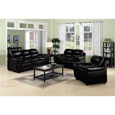 Modern Leather Living Room Set by Furniture Design Ideas Electric Black Leather Living Room