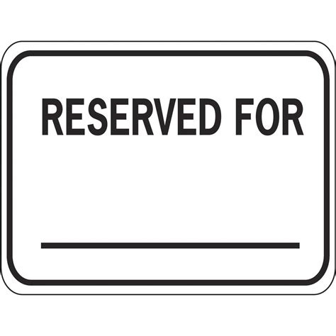 reserved sign template word eagle one s180 reserved for sign