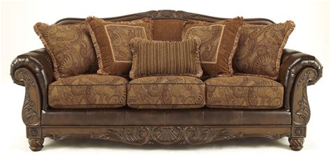 fresco antique sofa buy ashley furniture 6310038 fresco durablend antique sofa