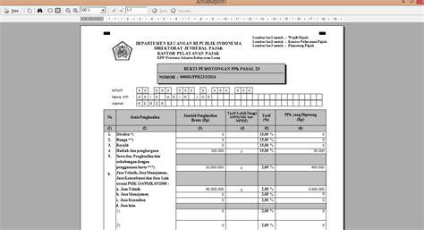 membuat database espt pph 23 mencetak spt masa daftar bukti potong dan bukti potong