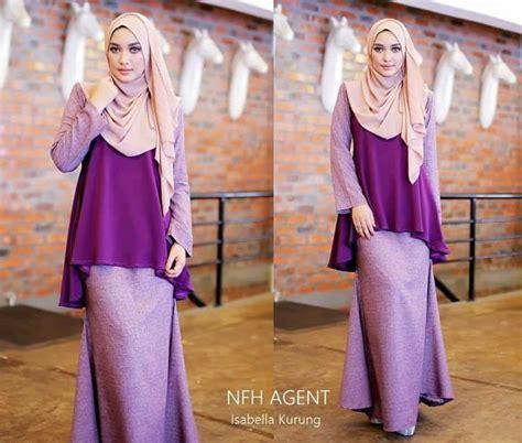 Baju Kurung Moden Purple Pink baju kurung moden isabela ii saeeda collections