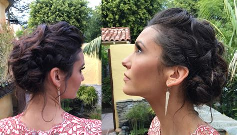 updo hairstyles nina nina dobrev golden globe hair style fashion blog by