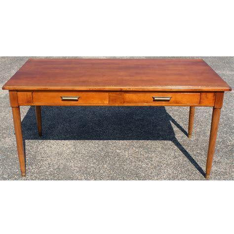 60 quot modern walnut two drawer desk