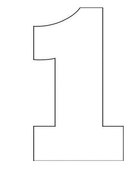 number 1 template coloring pages stencil of number 1 coloring