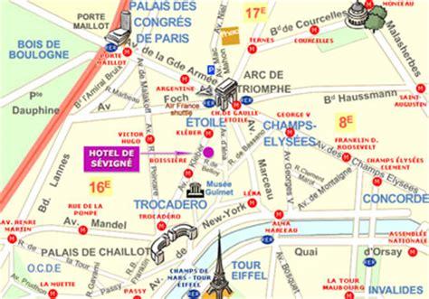 porte maillot mappa hotel de sevigne parigi nei pressi degli chs elys 233 es e