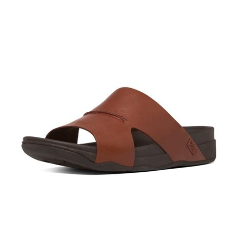 mens slide sandals fitflop bando slide sandals s leather sandals