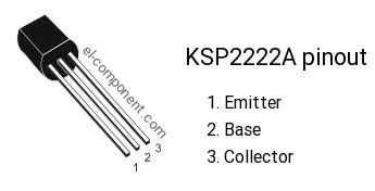 transistor emitter base collector ksp2222a n p n transistor complementary pnp replacement pinout pin configuration substitute