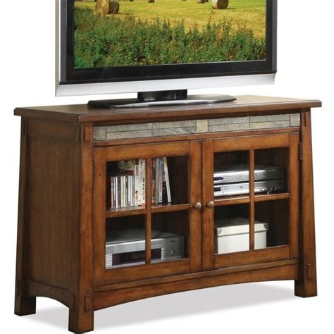 riverside furniture craftsman home 45 inch tv stand in