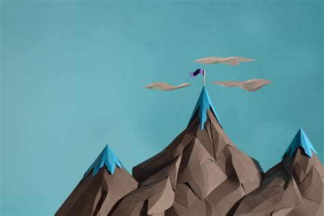 How To Make A 3d Mountain Out Of Paper - with uk paper artist andy singleton strictlypaper