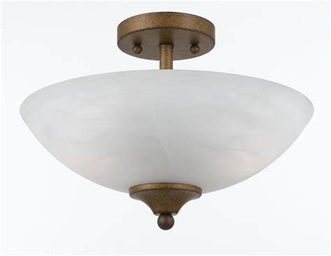 Modern Gold Bathroom Lighting 2 Light Gold Finish Semi Flush Fixture Contemporary