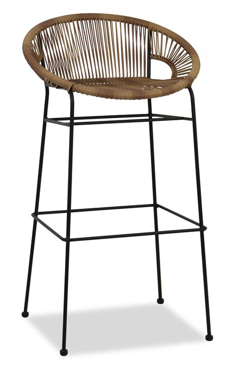 outdoor wicker bar stools with backs furniture rattan bar stools best for kitchen outdoor