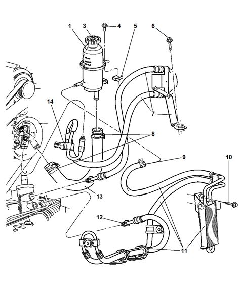 2002 jeep liberty power steering power steering hoses and reservoir for 2004 jeep liberty