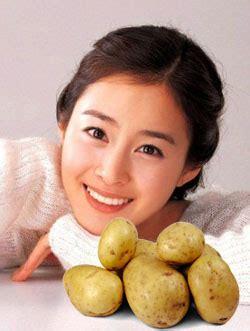 alami memutihkan wajah  kentang tips kecantikan
