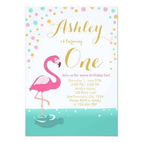 Flamingo Party Invitation Flamingo Birthday Invite Zazzle Co Uk Flamingo Invitation Template Free