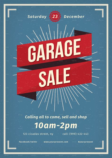 Vintage Garage Sale by Vintage Garage Sale Flayer By Lilynthesweetpea Graphicriver