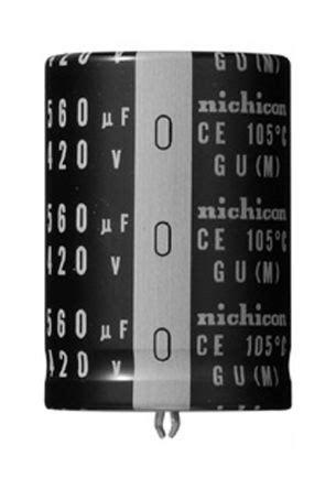 nichicon capacitors gu lgu1c103melz nichicon aluminium electrolytic capacitor 10000μf 16v dc 22mm through gu