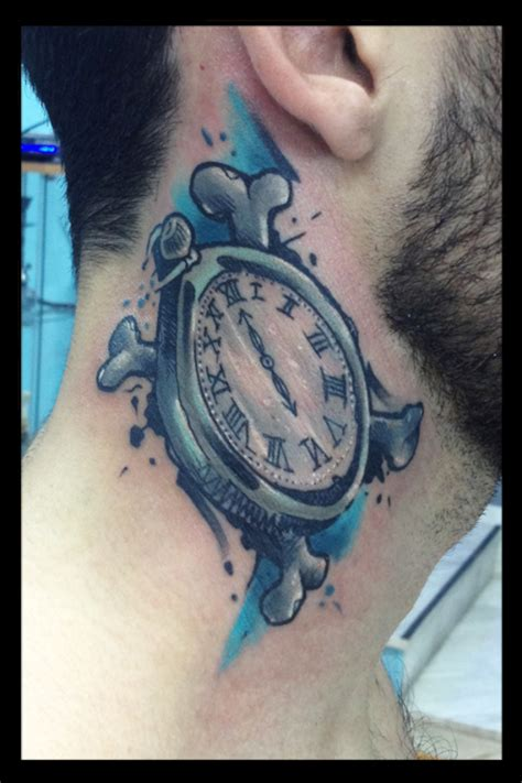 w tattoo melting clock shoulder www imgkid the image