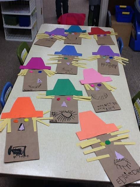 Scarecrow Paper Bag Craft - simple preschool scarecrow crafts