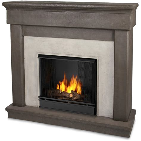 Real Log Fireplaces by Real Cascade 49 Inch Gel Fireplace With Mantel