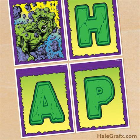 printable hulk banner free printable incredible hulk birthday banner