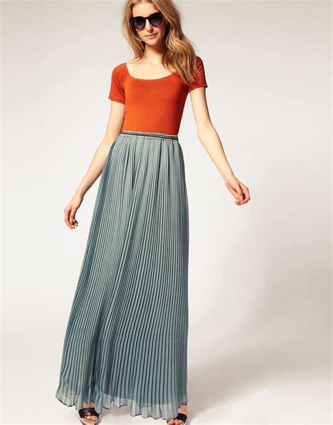 asos asos premium chiffon pleated maxi skirt at asos