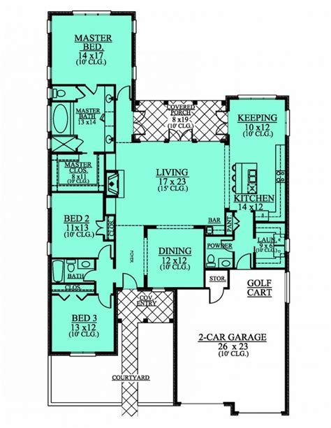 654190 1 level 3 bedroom 2 5 bath house plan house