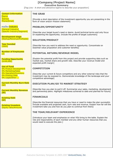 Executive Summary Templates 15 Exles And Sles All Form Templates Project Plan Overview Template