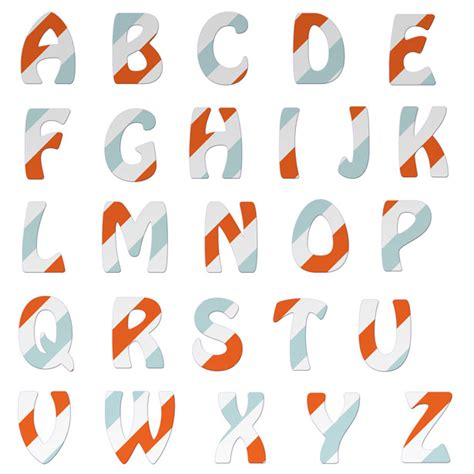 alphabet letters colorful stripes free stock photo