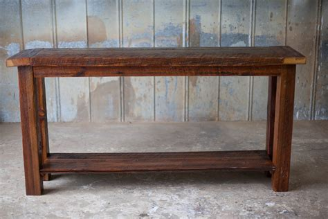 reclaimed wood sofa table sofa tables reclaimed wood farm table woodworking