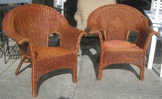 Patio Wicker Chair by Uhuru Furniture Amp Collectibles Sold Wicker Patio Chairs