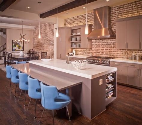 kitchen with brick wall a brick wall always a charming d 233 cor feature in any room