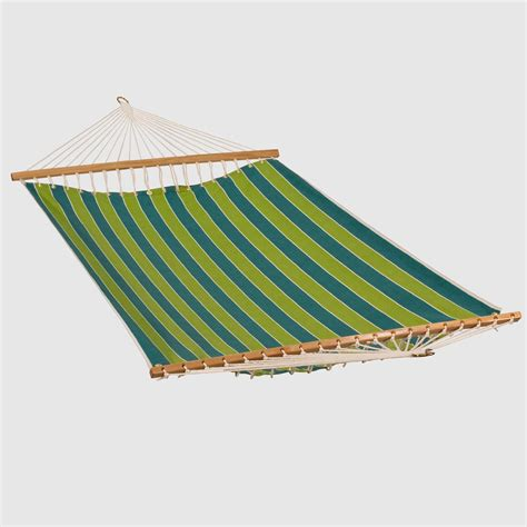 Fabric Hammocks green stripe 2 person 13 fabric hammock world market