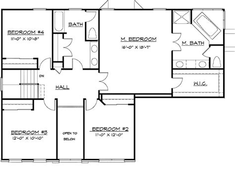 2610 square feet 3 bedrooms 2 189 batrooms on 2 levels colonial style house plan 4 beds 2 5 baths 2610 sq ft