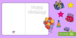 card insert template ks1 birthday card writing template blank editable card