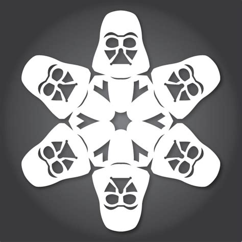 yoda snowflake template how to make wars snowflakes with paper scissors and